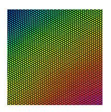 Dichroïque en verre 90 Coe Dot 1 sur Mince Noir CBS 5x10 cm