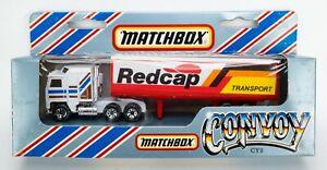 1983 Matchbox Convoy CY8 Kenworth Box Truck WHITE / REDCAP TRANSPORT