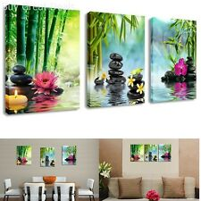 3 Panels Framed Home Decor Canvas Print Painting Picture Modern Wall Art Spa