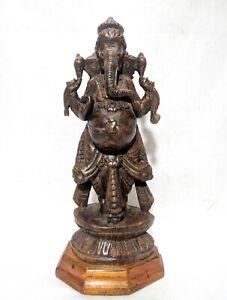 Antique Ganesha Sculpture Rosewood Ganapati Idol Vinayaka Statue Ganesh Figurine