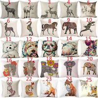 """18"""" Animal Cotton Linen Pillow Case Pillow Cover Sofa Cushion Cover Home Decor"""
