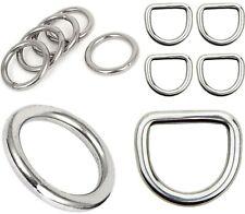 STAINLESS STEEL D-Rings O-Rings ~ Metal Webbing Leathercraft WELDED BUCKLES New