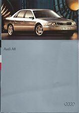 AUDI A8 Folleto de mercado del Reino Unido 1995 1996 incluye 2.8 & 4.2 V8 Quattro 80 páginas