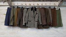 Job Lot Ladies Vintage Wool Tweed Dog Tooth Blazers Skirts Velvet collar J555