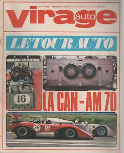 VIRAGE AUTO 1970 9 TOUR AUTO CANAM ALPINE A110 V85 GP FRANCE UK ALLEMAGNE HOLLAN