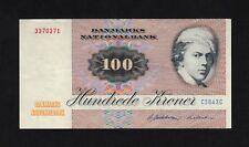 F.C. DINAMARCA DENMARK , 100 CORONAS 1984 , MBC- ( VF ) , P.51k .
