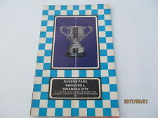 Football Programme, League Cup 3rd Rd, Queens Park Rangers v Swansea City, 1978.