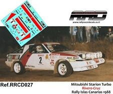 DECAL/CALCA 1/43; Mitsubishi Starion Turbo; Rivero-Cruz; Rally Islas Canarias 88