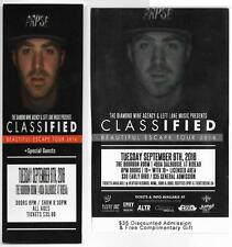 CLASSIFIED OTTAWA CANADA 6.09.2016 USED TICKET + GIFT VAUCHER