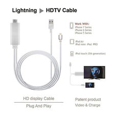 NEW 1080P 2M 8 Pin Lightning to HDMI TV AV Adapter Cable for iPhone X 8 7 6S AU