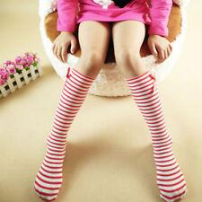 Girl's Sweet Princess Bowknot Striped Boot Socks Winter Knee High Warm Socks US