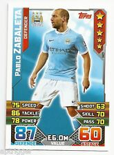 2015 / 2016 EPL Match Attax Base Card (147) Pablo ZABALETA Manchester City