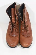 ARIAT WOMENS 9 BROWN LACER LEATHER COWBOY ROPER WESTERN BOOTS