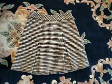 Talbots Wool Blend  Plaid A Line Pleated Skirt Sz 4