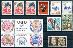 Monaco Europe Olympic Sport Horses 13 stamps MLH