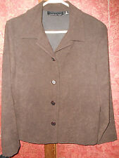 Briggs New York Top Womens Size medium Brown Casual Blouse Button up clothing