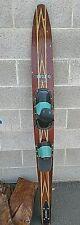Rare Vintage Connelly Hook 65 Waterski Ski + Case Vg Pattern Mahogany Inlay Wood