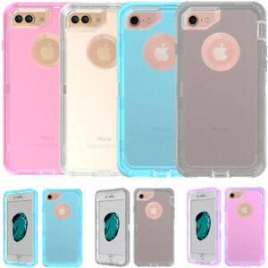 For iPhone X 8 7 6 6s & Plus Transparent Clear Case Clip Fits Otterbox Defender