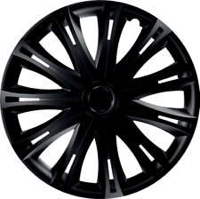 "TOYOTA AVENSIS (11 +) 16"" 16 INCH CAR VAN WHEEL TRIMS HUB CAPS BLACK"