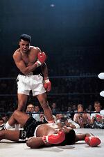 MUHAMMAD ALI VS. SONNY LISTON BOXING SPORT PHOTO POSTER PRINT 24x16  9 MIL PAPER