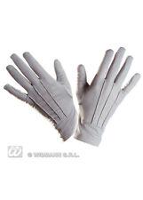 Adult Mens Gothic Short Grey Gloves