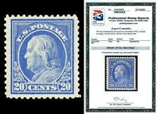 Scott 419 1914 20c Ultramarine Franklin Perf 12 Mint Graded 90J LH with PSE CERT