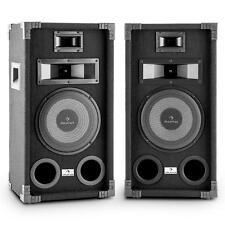 "(B-WARE) FULLRANGE DJ PA LAUTSPRECHER PAAR 8"" TIEFTÖNER 400 WATT JE BOX 3WEGE"