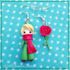 Orecchini Il Piccolo Principe ~ Cute Little Prince Earrings Fimo Polymer Clay