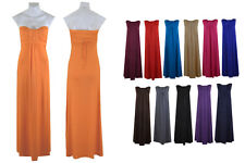 **BNWT Ladies Women Bandeau Long Maxi Dress Size 8 _ 10 _ 12 _ 14 _ S/M _ M/L **