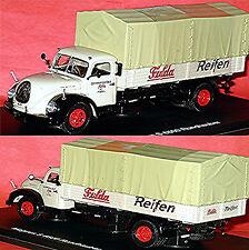 MAGIRUS S 6500 Camión Capó redondeado Plataforma Lona 1951-67 Fulda Neumáticos