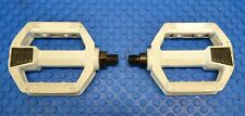 """SR SP-474 Pedals 1/2"""" - White - Old School BMX Freestyle for GT Freestyle"""
