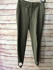 Vintage E.O.C. Huckelhoven Size Small Green Military Stirrup Pants Wool Stretch