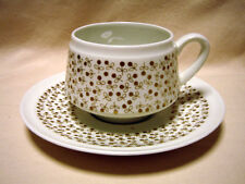 ARABIA  Finland, Esteri Tomula, Kimmel, Vintage Coffee Cup and Saucer, Excellent