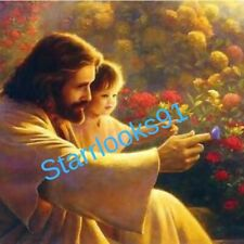 JESUS WITH A CHILD 8 x 10  photo catholic christian religious bible garden
