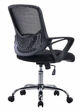 Mesh Task Chair with Arms, Swivel & Tilt, Ergonomic Design Office Home Mid-Back