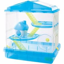 Hamster Cage Three-story + Loft House Blue