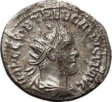 TREBONIANUS GALLUS 251AD Rare Silver Ancient Roman Coin Peace bringerMars i46336