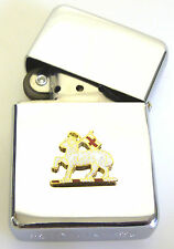 QRWS QUEENS ROYAL WEST SURREY BADGED  WINDPROOF CHROME PLATED LIGHTER