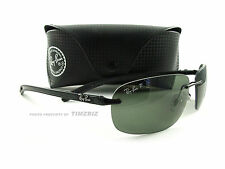 New Ray-Ban Sunglasses RB 8303 Carbon Black Green Polarized 002/9A Authentic