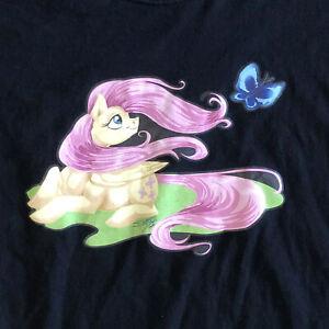 "My Little Pony Fluttershy 2013 ""Brony"" T-shirt Men's Large By Shottsy"