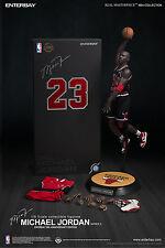 Enterbay 8th Anniversary NBA Michael Jordan #23 Black Jersey 1/6 Figure IN STOCK