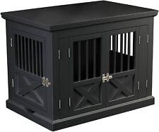 Triple Door Dog Crate, Black, Medium