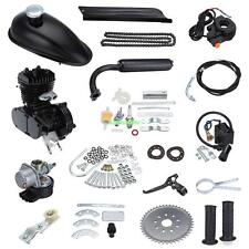 Bicycle 2 Stroke 50cc Petrol Gas Motorized Engine Bike Motor Kit Black DIY Cycle