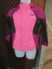 Girls The North Face Light Hooded Jacket Multi Color Pink Size Medium 10/12