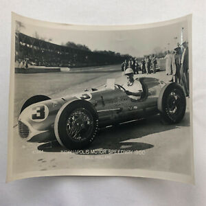 1950 Indianapolis Motor Speedway Indy Racing Photograph Photo Bill Holland