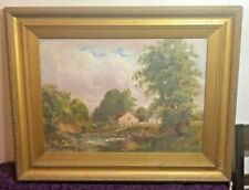 Oil Signed Farming Art Paintings