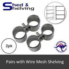 Wire Mesh Shelving Post Clamp Black Chrome Garage Storage