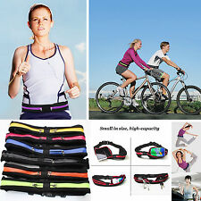 Cycling Gym Yoga RUNNING BELT Storage Belt SLIM - Zip Pocket Mobile Money Keys