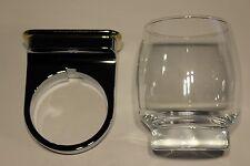 Roman Dietsche Glashalter mit Glas klar Serie Kami 810409 chrom / gold