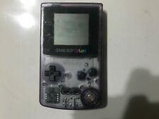 GameBoy Color^tested by 10 year old expert^battery cover missing^Atomic purple